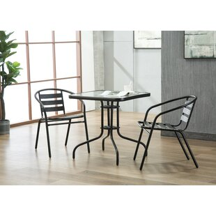 Highland Dunes Bemadette 3 Piece Dining Set