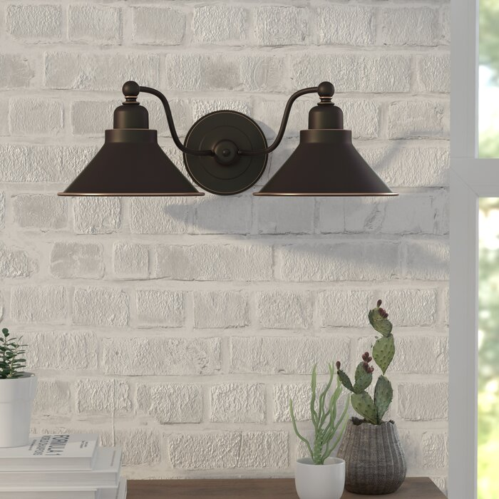 Euclid 2-Light Armed Sconce
