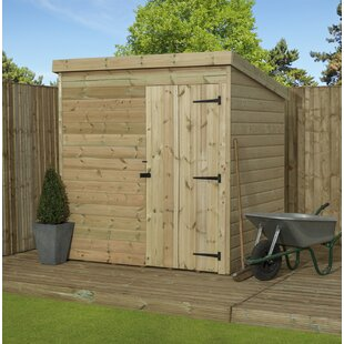 Breezeknoll 6 Ft. W X 5 Ft. D Shiplap Pent Wooden Shed By Union Rustic