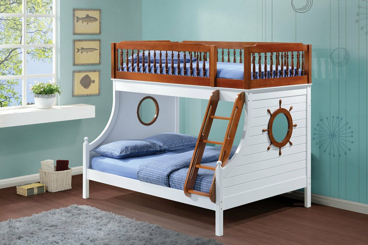 Washington twin over full bunk bed with trundle amp reviews wayfair - Infini Furnishings Captain Twin Over Full Bunk Bed Reviews Wayfair