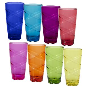 Purchase Delilah Circus 24 oz. Acrylic Every Day Glasses (Set of 8) :Affordable Price