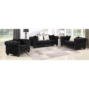 Flavin Upholstered 3 Piece Living Room Set