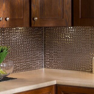 Terrain 18 25 X 24 Pvc Backsplash Panel Kit In Brushed Nickel