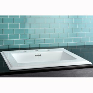Read Reviews Concord Ceramic Rectangular Drop-In Bathroom Sink with Overflow ByKingston Brass