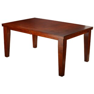 Lynzey Solid Wood Expandable Leaf Dining Table