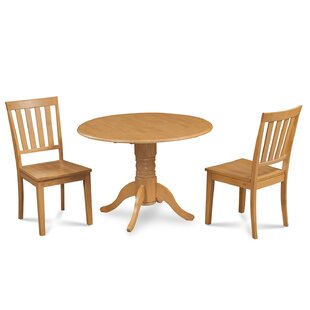 Chesterton Traditional 3 Piece Solid Wood Dining Set Alcott Hill