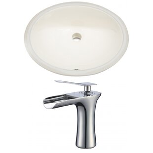 Top Reviews CUPC Ceramic Oval Undermount Bathroom Sink with Faucet and Overflow ByRoyal Purple Bath Kitchen