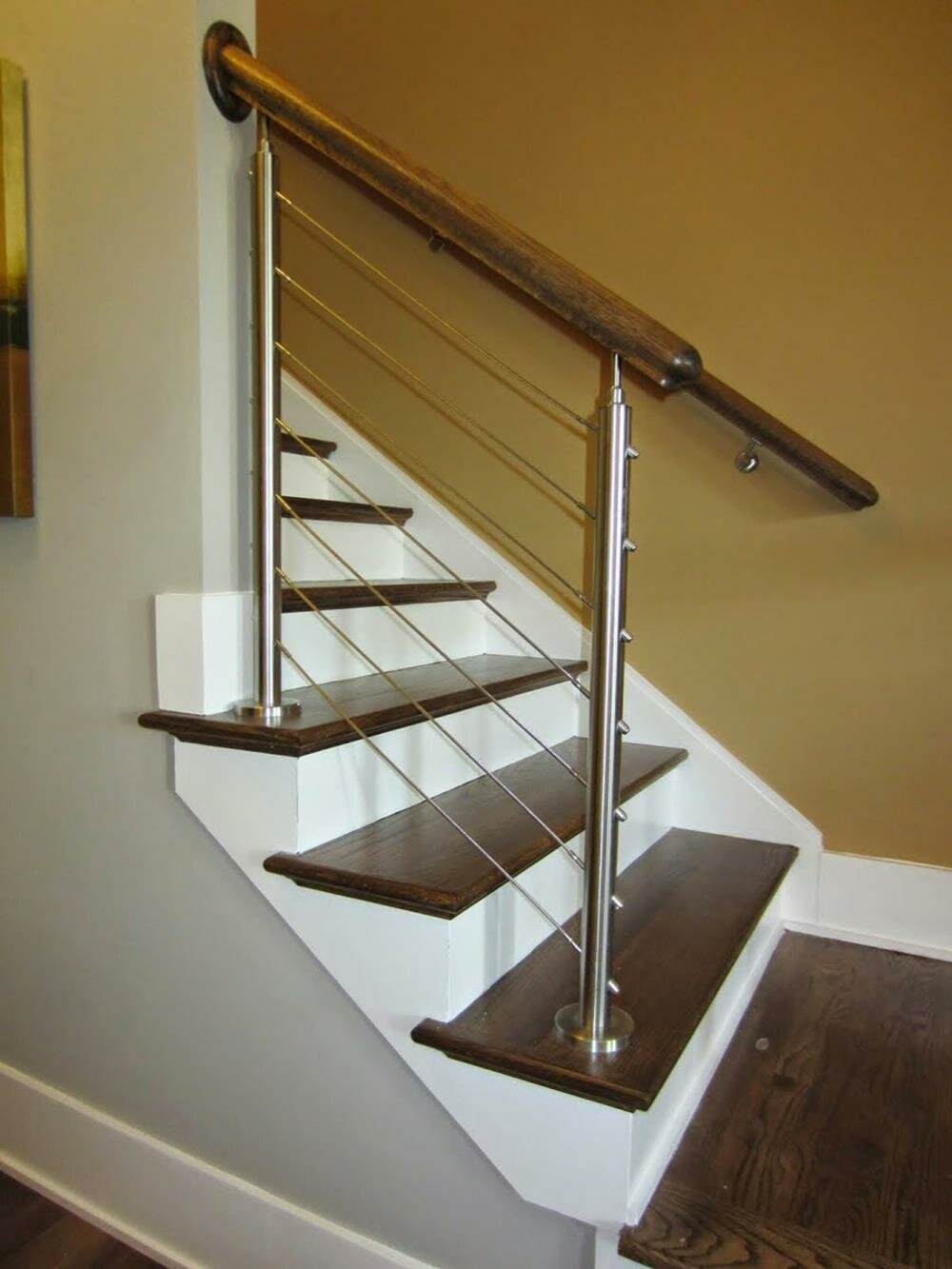 Wood Handrail Staircase Beech Banister with Stair Railing Holder Kits Home Decor