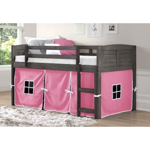 Harriet Bee Chatham Twin Platform Bed with Pink Tent