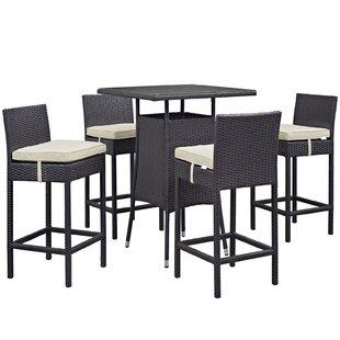 Ryele 5 Piece Bar Height Dining Set