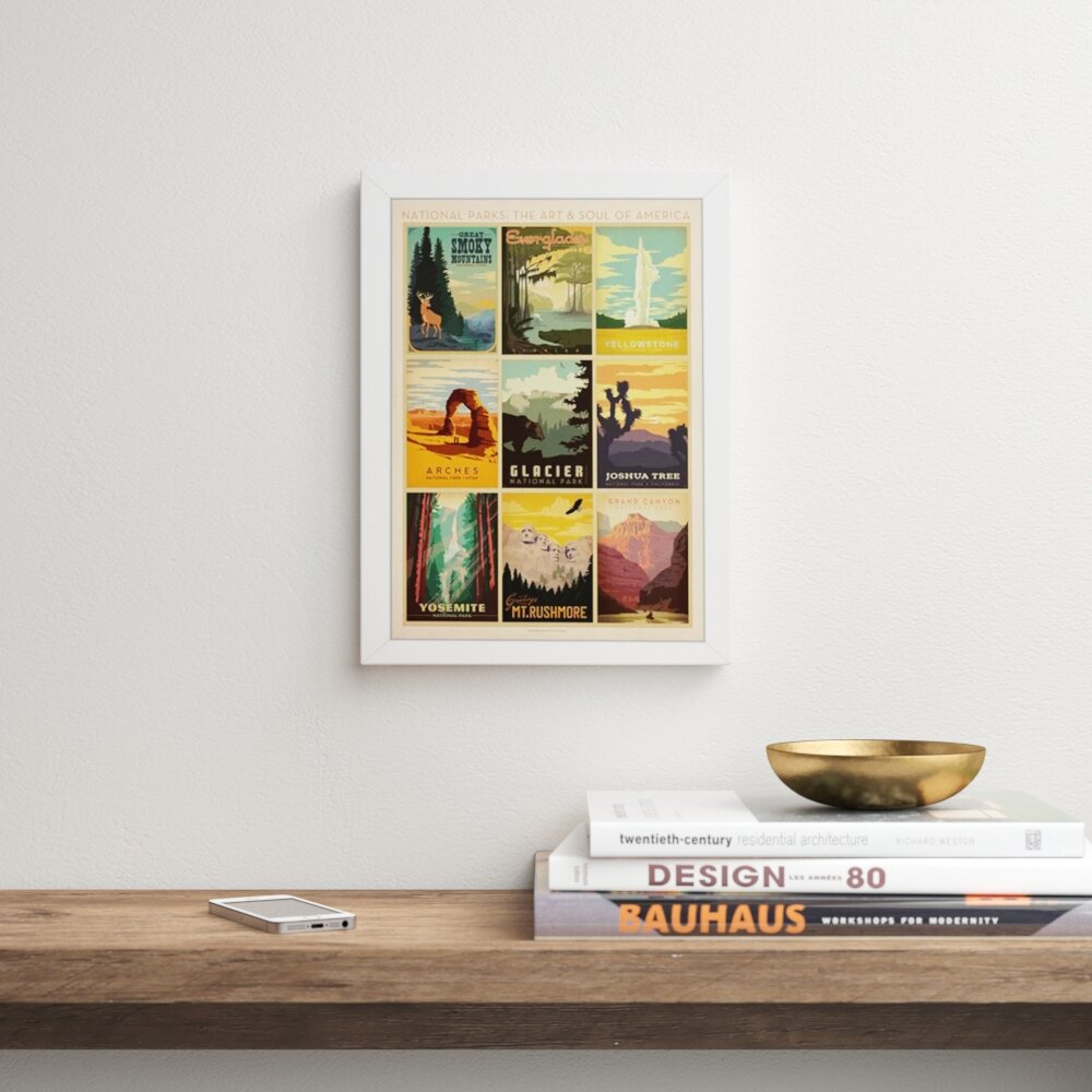 East Urban Home National Park Multi Print By Anderson Design Group Advertisements Print Reviews Wayfair Ca