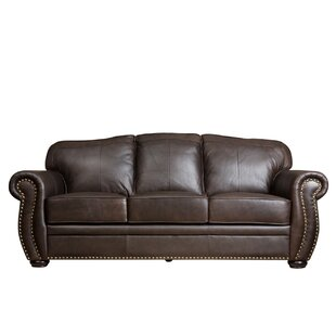 World Menagerie Hotchkiss Leather Sofa