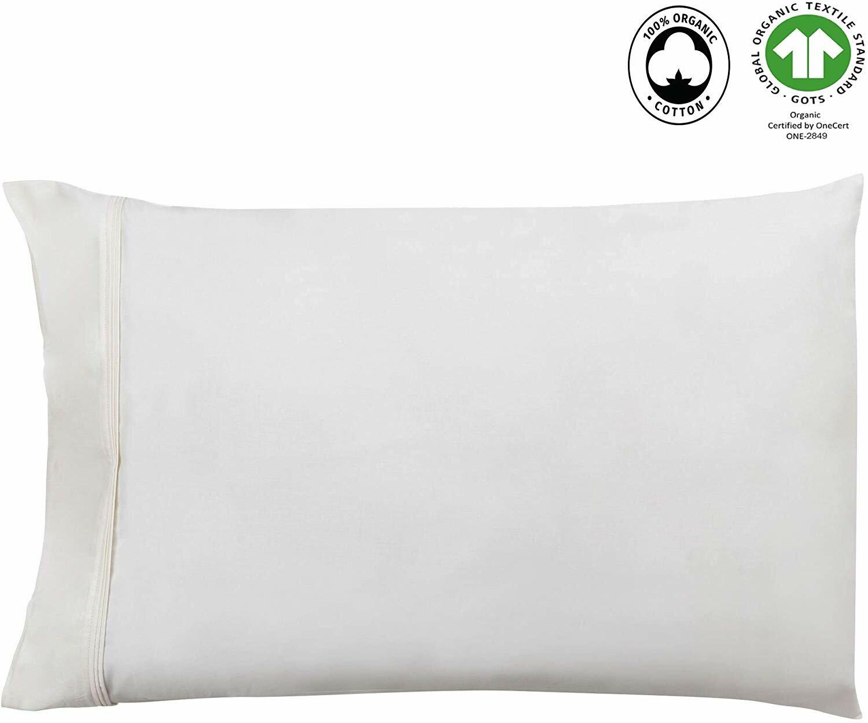 "New//Quality//Cream//Ivory Pillowcase//Case//for 60/"" Body Pillow//100/% Cotton//300 TC"