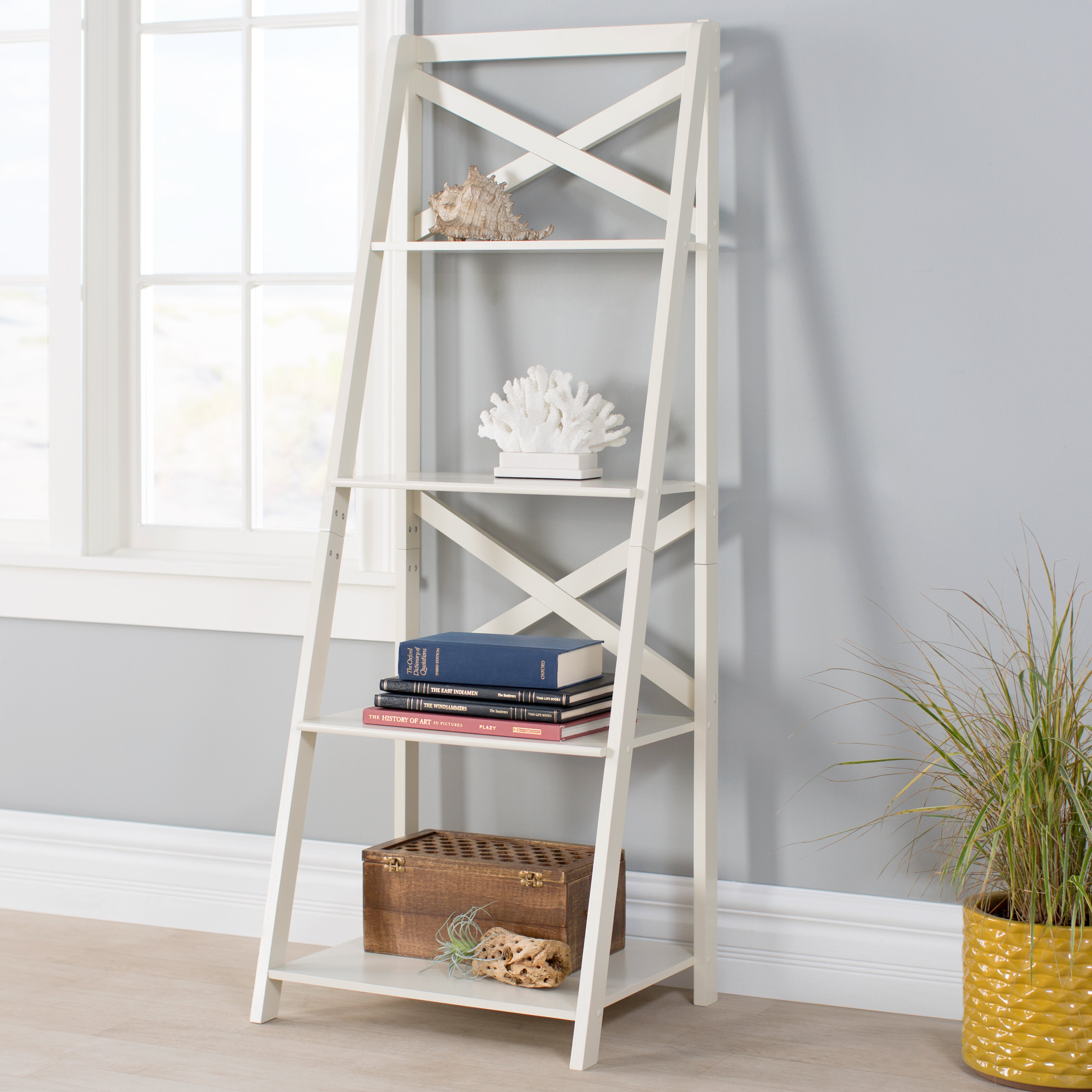 airy leaning shelf are with sas burger shelves decorating affordable open jenna ladder