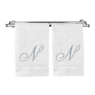 Monogrammed 100% Cotton Hand Towel (Set of 2)
