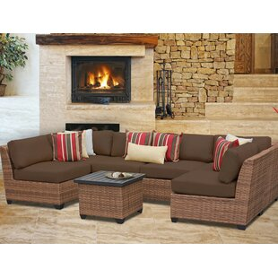 Rosecliff Heights East Village 7 Piece Sectional Set with Cushions