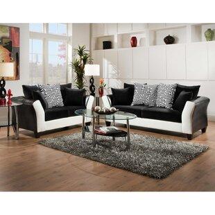 Dilorenzo Contemporary 2 Piece Wood Frame Living Room Set by Latitude Run