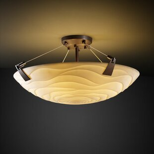 Nina Tapered Clips 3 Light Semi Flush Mount by Bloomsbury Market