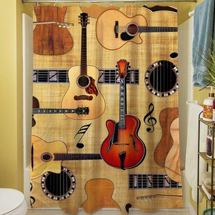 Guitar Collage Single Shower Curtain