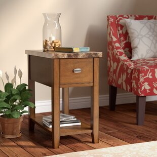 Athens End Table With Storage Charlton Home
