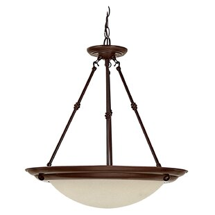 Charlton Home Werner 3-Light Bowl Pendant