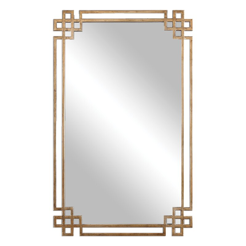 Emilia Rectangle Gold Mirror