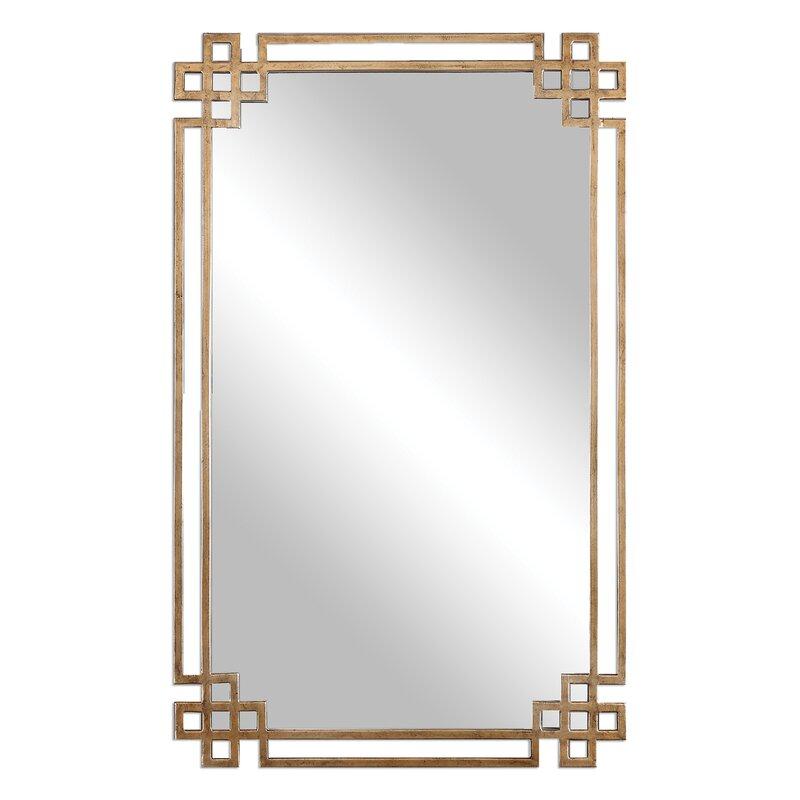 Emilia Rectangle Gold Mirror