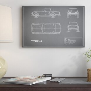 'Triumph TR4' Graphic Art Print on Canvas in Gray By East Urban Home