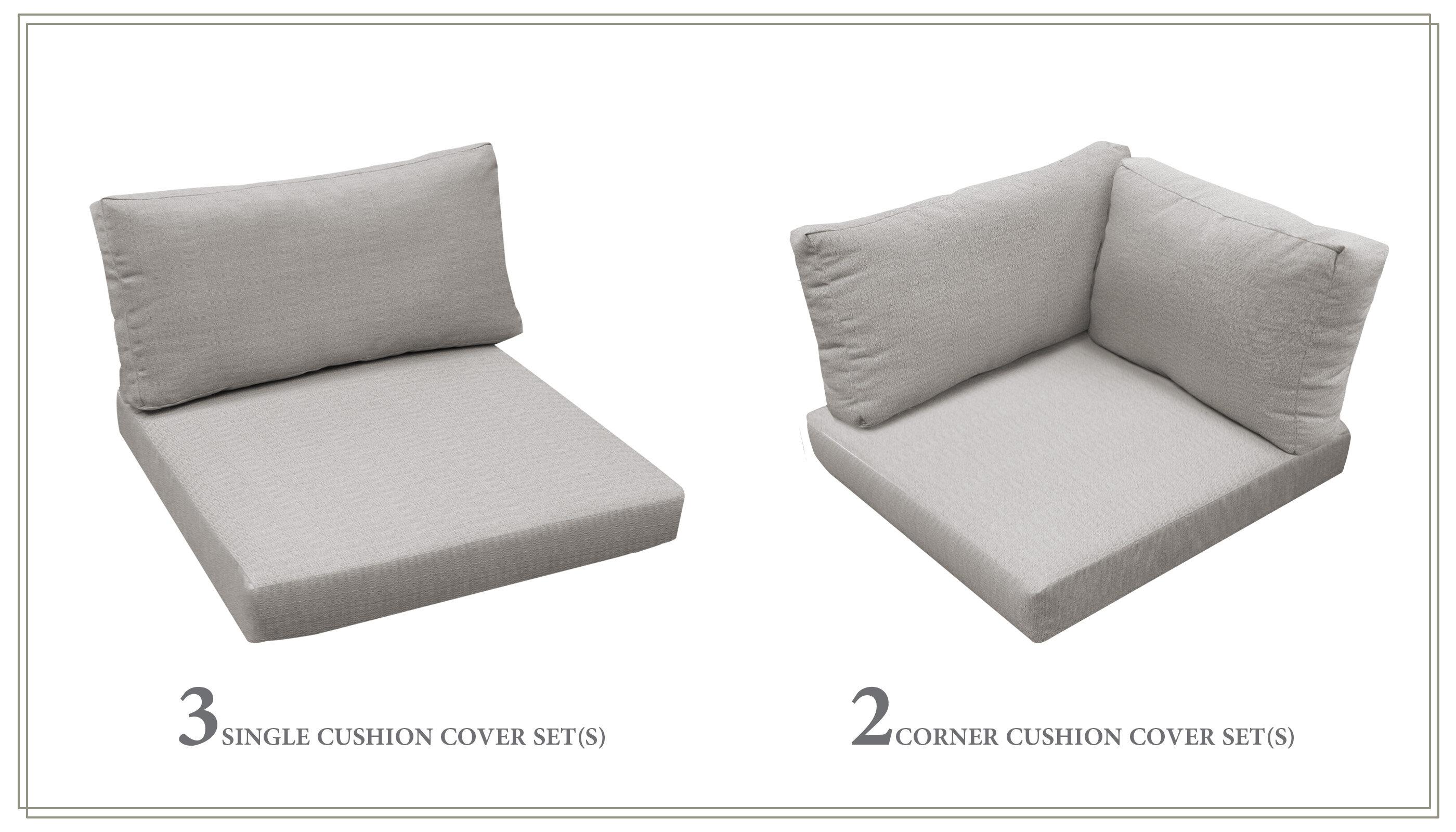 Highland Dunes 5 Piece Indoor Outdoor Replacement Cushion Set Wayfair