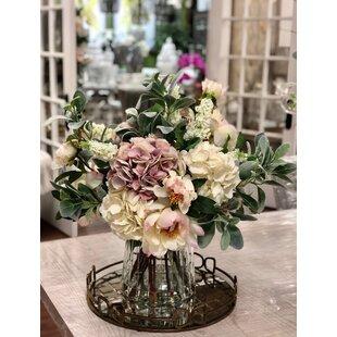 Mixed Bouquet Floral Arrangement and Centerpiece in Glass Vase  sc 1 st  Wayfair & Silk Vase Artificial Flowers You\u0027ll Love | Wayfair