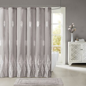 Darlene Embroidered Shower Curtain