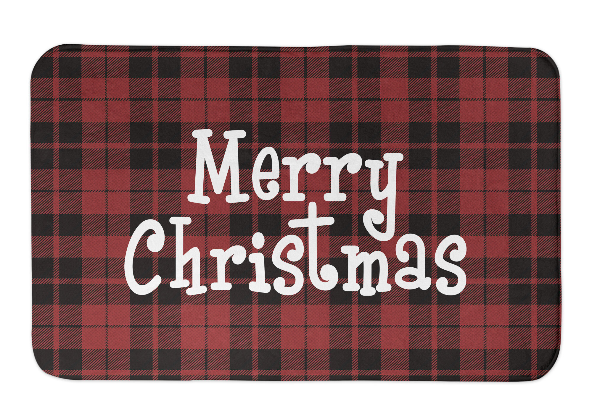 Deidre Merry Christmas Bath Rug