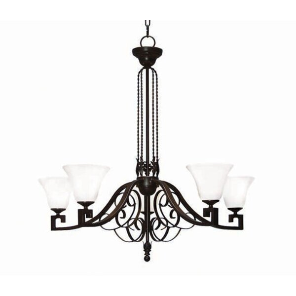 2nd Ave Design Suri 5 Light Shaded Classic Traditional Chandelier Wayfair