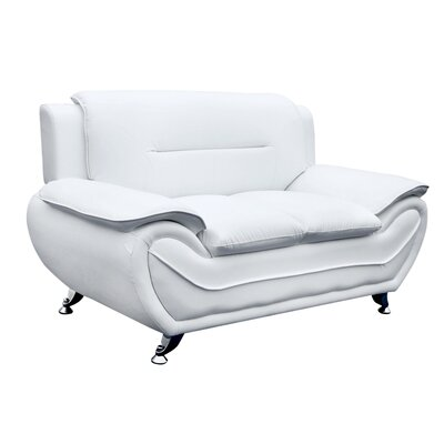 Pleasing Segura Loveseat Orren Ellis Upholstery Cream White Caraccident5 Cool Chair Designs And Ideas Caraccident5Info