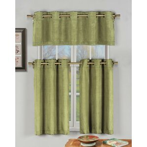 Havener 3 Piece Grommet Kitchen Curtain (Set Of 3)