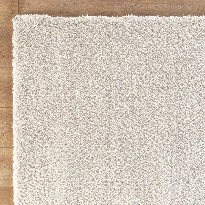 shaggy white rug & reviews   birch lane