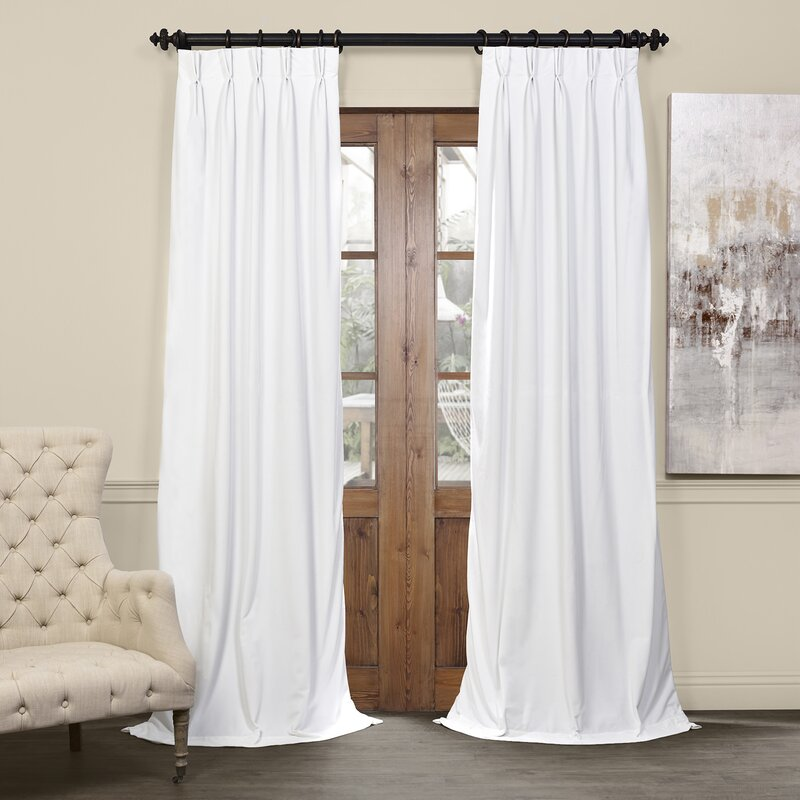 Darby Home Co Balone Solid Max Blackout Thermal Pinch Pleat Single Curtain  Panel U0026 Reviews | Wayfair