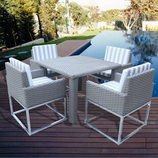 Orren Ellis Leonore 5 Piece Dining Set with Cushions