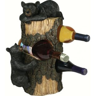 Somerset Bears 3 Tabletop Wine Bottle Rac..