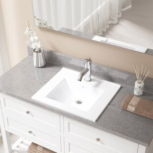 MR Direct Vitreous China Rectangular Vessel Bathroom Sink with Faucet and Overflow