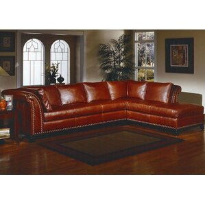 Kingsley Leather Sectional by Omnia Leather