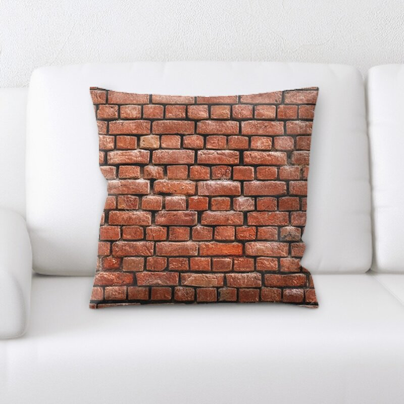 Rug Tycoon Bricks Throw Pillow Wayfair