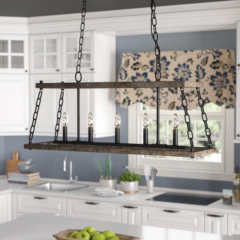 Laurel Foundry Modern Farmhouse Inez Western Bronze Dwelling 5 Light Kitchen Island Pendant Reviews Wayfair