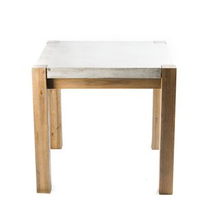 Galghard Stone/Concrete Side Table by 17 Stories