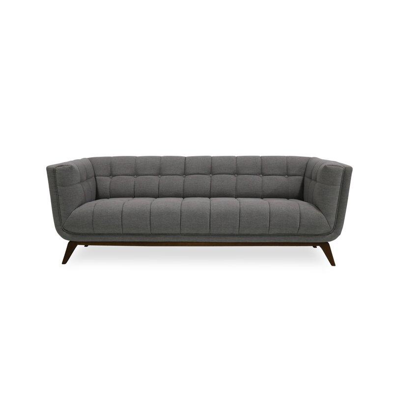 Worle Mid Century Modern Chesterfield Sofa