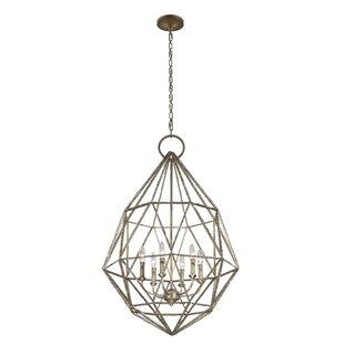 Willa Arlo Interiors Dyana 6-Light Geometric Chandelier