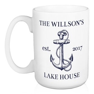 Paille Lake House Anchor Personalized Coffee Mug