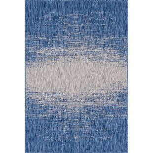 Minturn Blue/Gray Indoor/Outdoor Area Rug