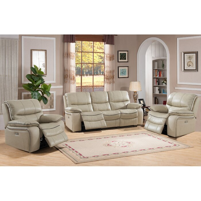 Swell Deshaun Reclining 3 Piece Leather Living Room Set Squirreltailoven Fun Painted Chair Ideas Images Squirreltailovenorg