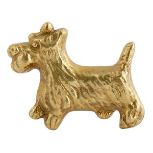 """Buddy"" Solid Brass Novelty Knob (Set of 2)"